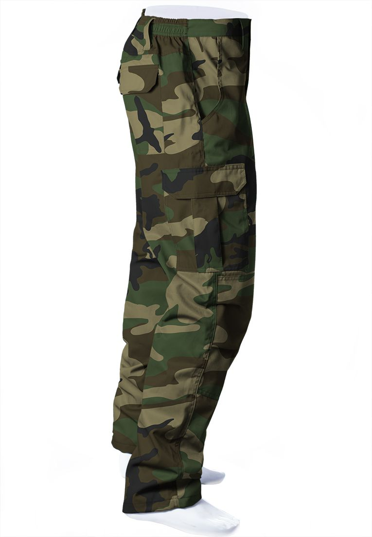 CALÇA CAMUFLADA WOODLAND BRIM FLÚOR CARBON MASCULINA  - REAL HUNTER OUTDOORS