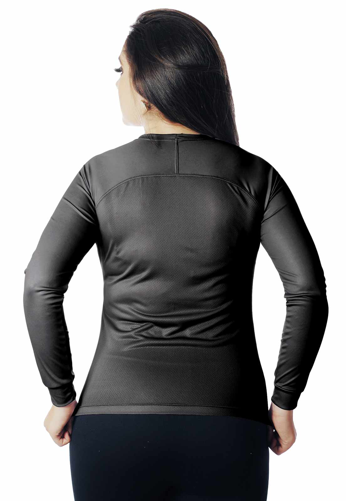 CAMISA DE CASUAL LAZER PROTEÇÃO UV BLACK 003 REAL HUNTER FEMININA  - REAL HUNTER OUTDOORS