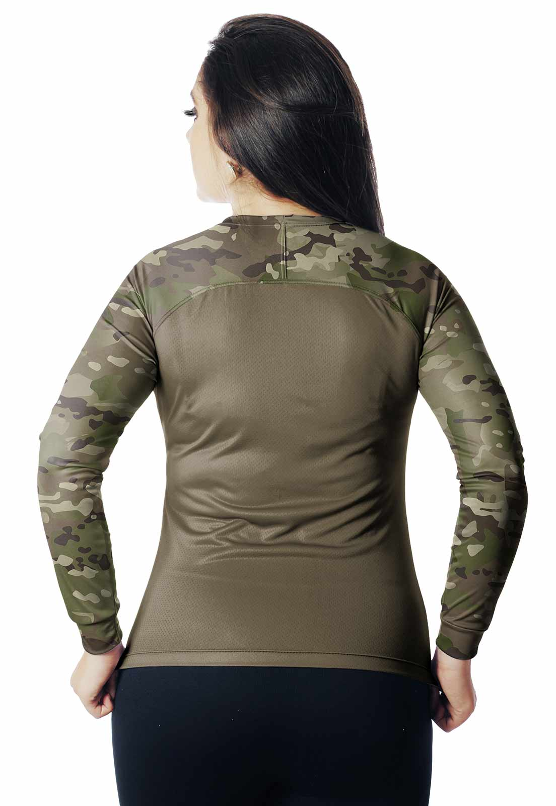 CAMISA DE PESCA CAMUFLADA LAZER PROTEÇÃO UV MULTICAM 14 REAL HUNTER FEMININA  - REAL HUNTER OUTDOORS
