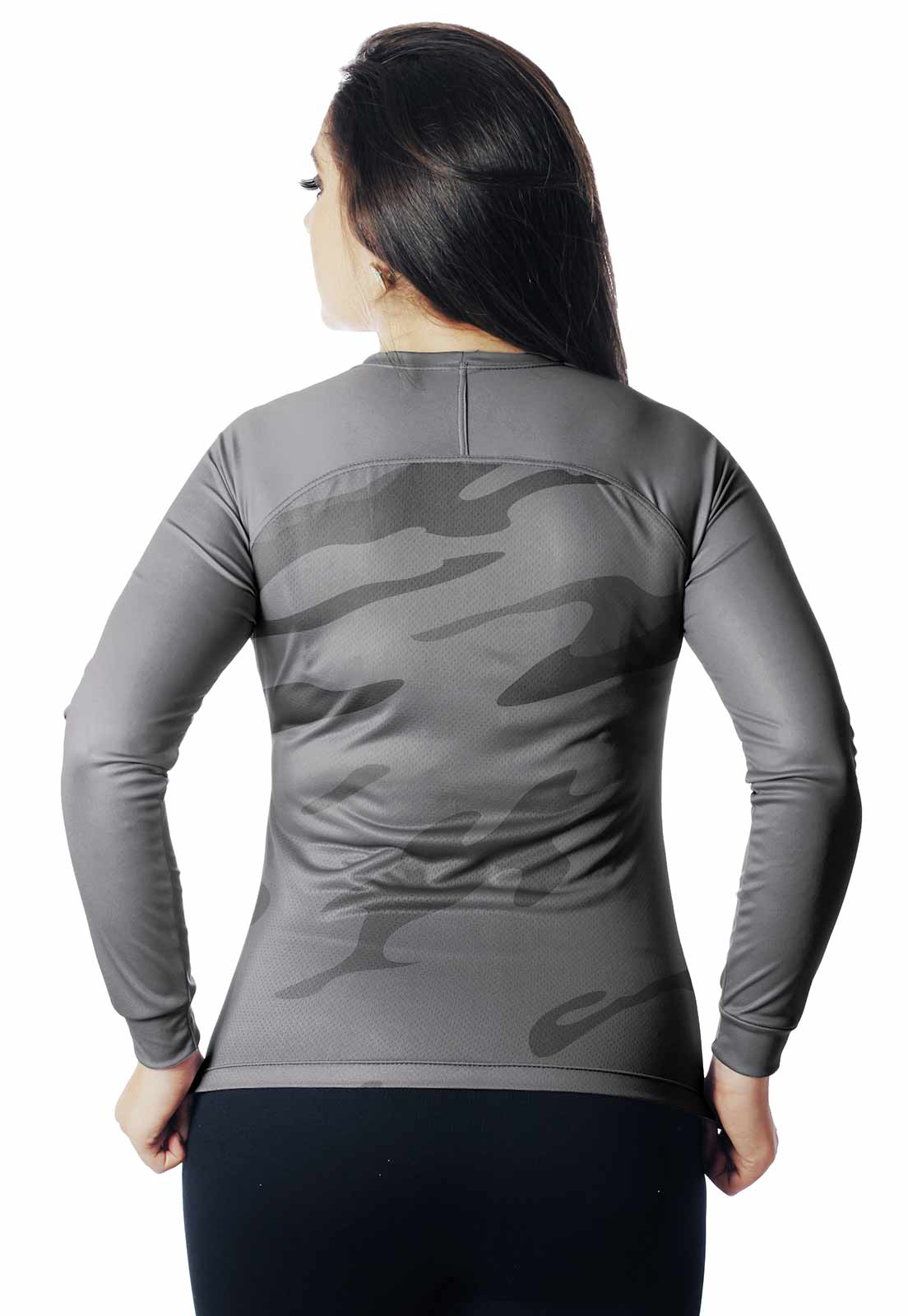 CAMISA DE PESCA CASUAL LAZER PROTEÇÃO UV CAMUFLADA 11 REAL HUNTER FEMININA  - REAL HUNTER OUTDOORS
