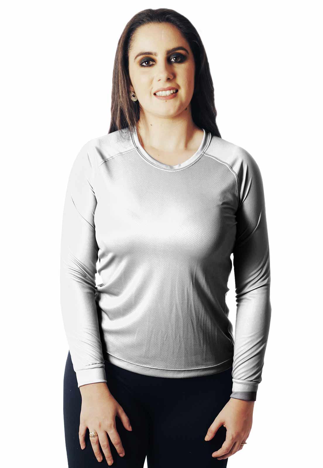 CAMISA DE PESCA CASUAL LAZER PROTEÇÃO UV WHITE 002 REAL HUNTER FEMININA  - REAL HUNTER OUTDOORS