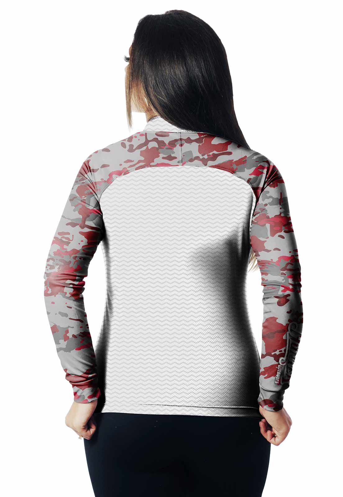 CAMISA DE PESCA FISH CAMUFLADA PRO 16 FEMININA + BANDANA GRÁTIS - REAL HUNTER OUTDOORS
