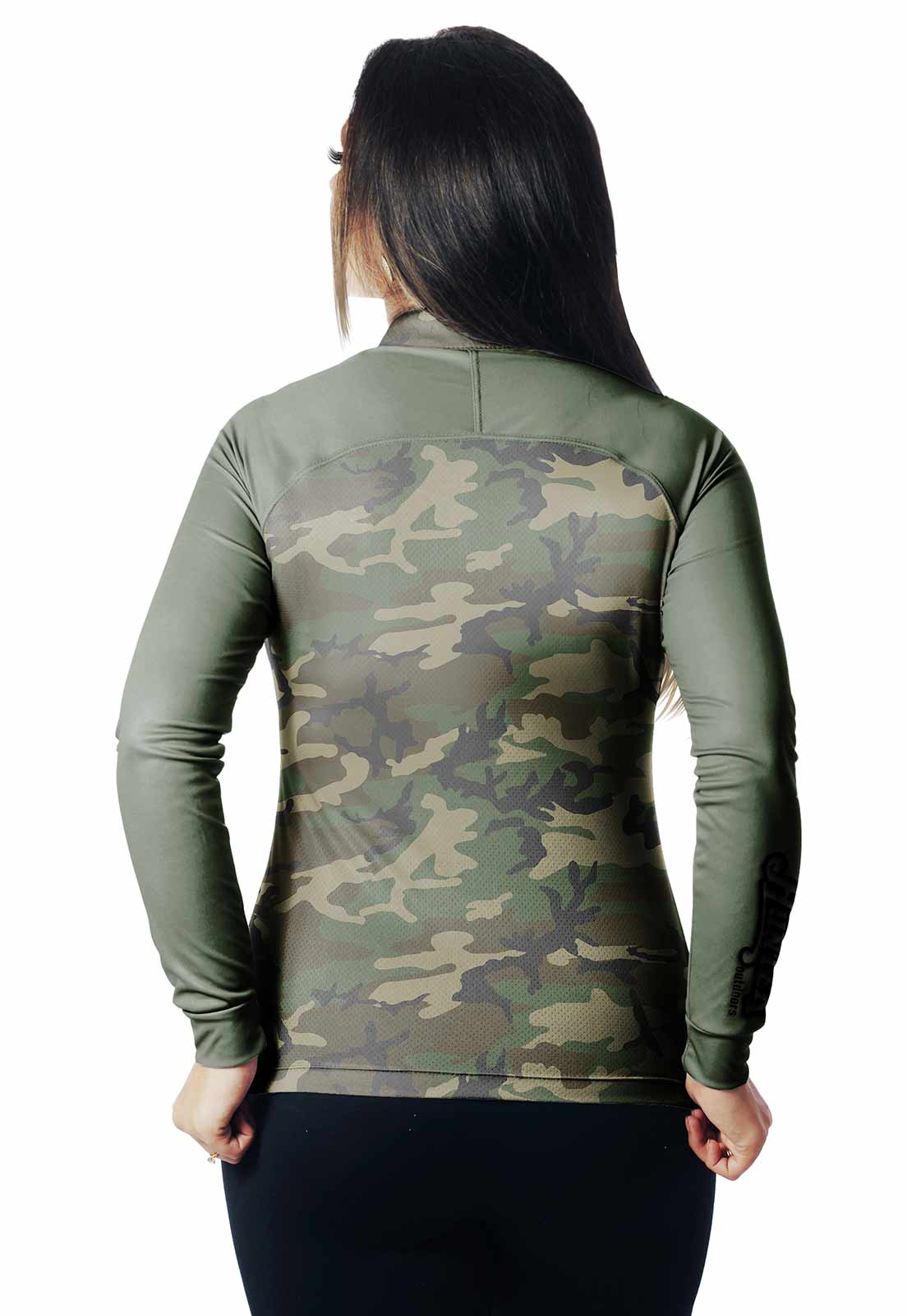 CAMISA DE PESCA FISH CAMUFLADA PRO 17 FEMININA + BANDANA GRÁTIS  - REAL HUNTER OUTDOORS