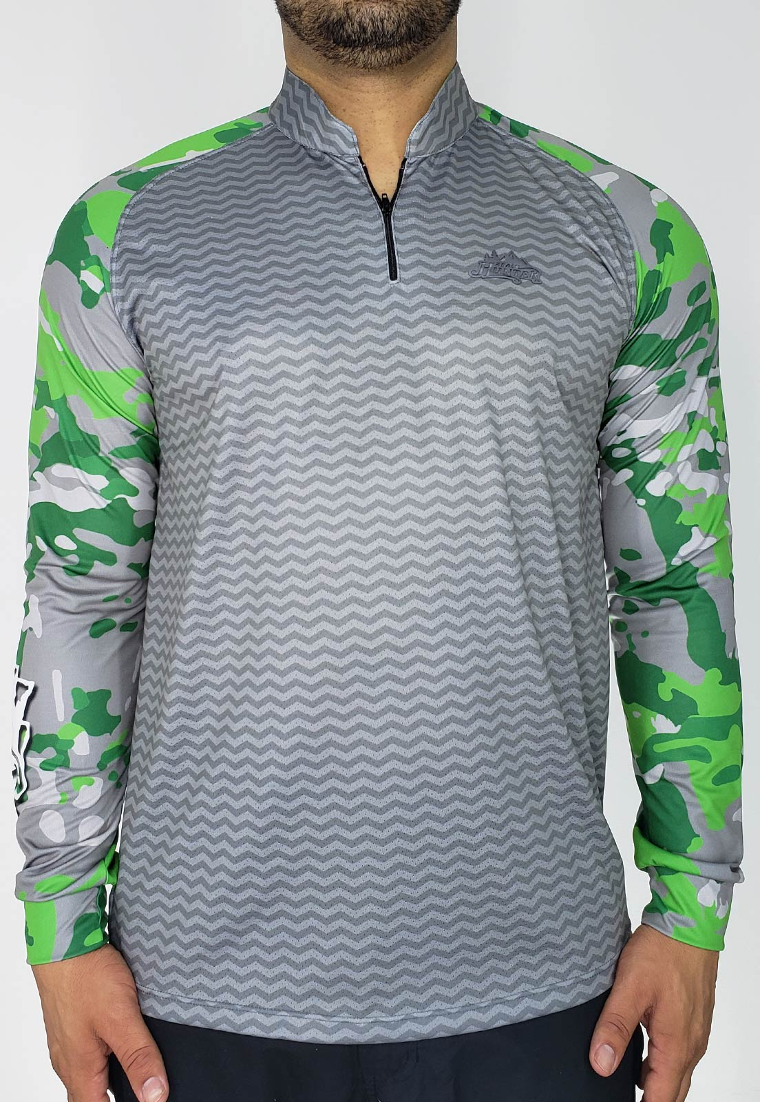CAMISA DE PESCA FISH PRO 14 MASCULINA + BANDANA GRÁTIS  - REAL HUNTER OUTDOORS