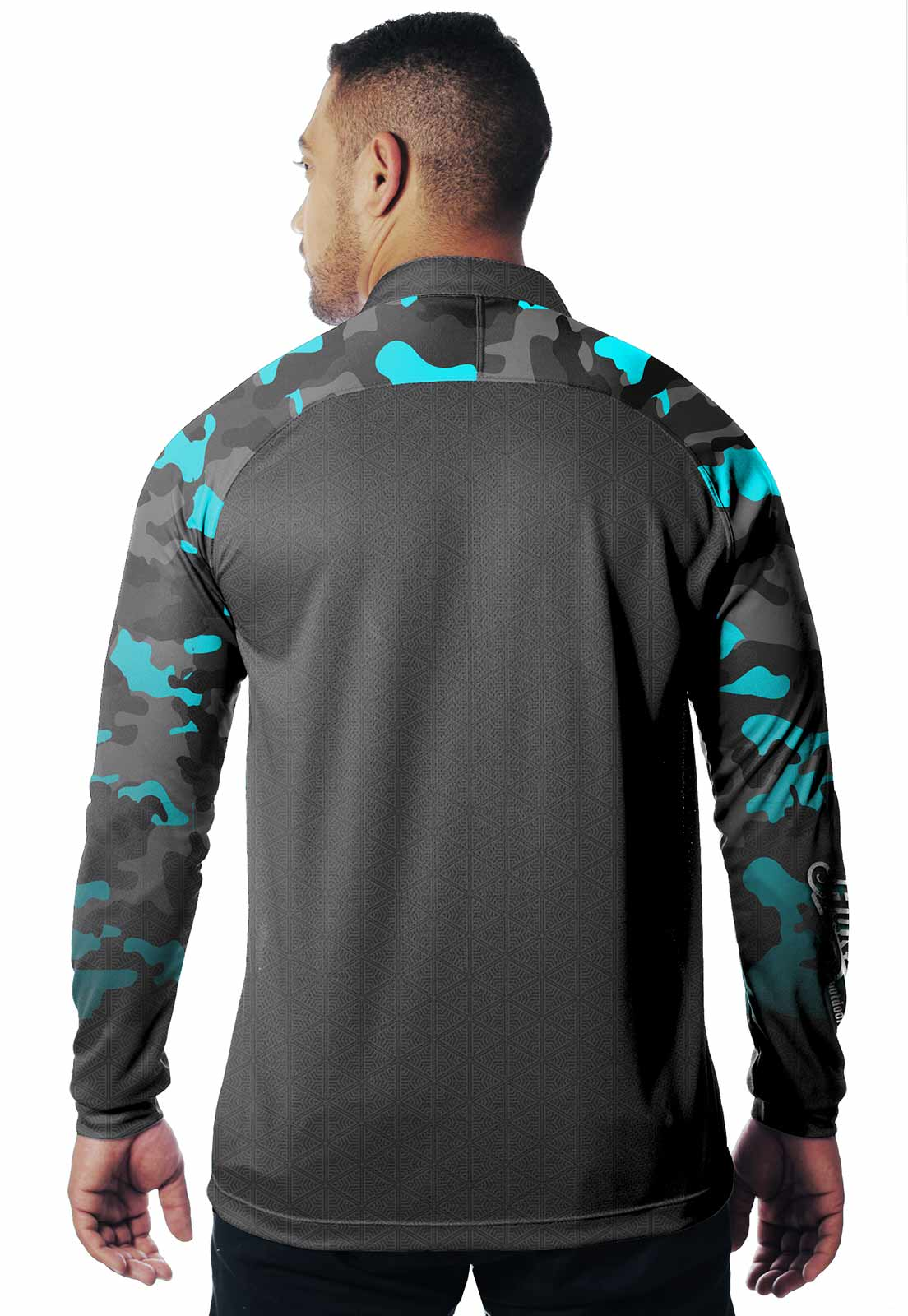 CAMISA DE PESCA FISH PRO 19 MASCULINA + BANDANA GRÁTIS  - REAL HUNTER OUTDOORS