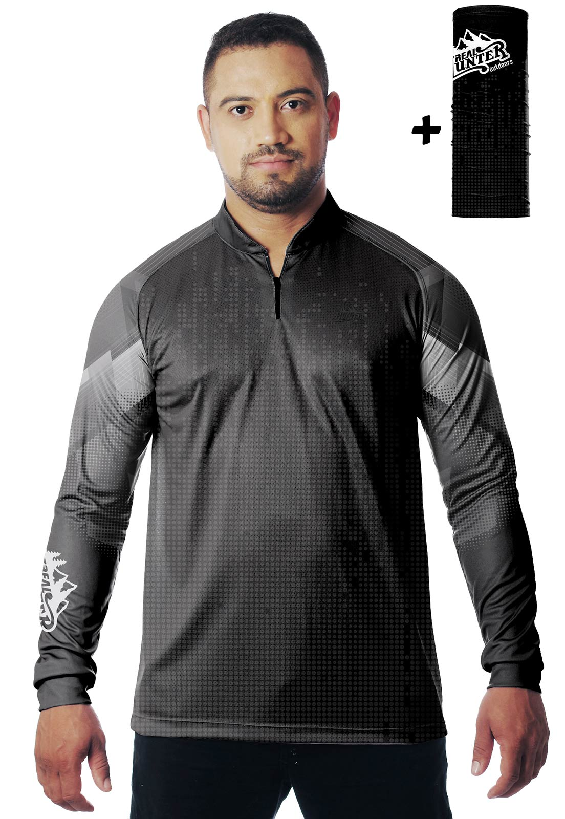 CAMISA DE PESCA FISH PRO 3 MASCULINA + BANDANA GRÁTIS  - REAL HUNTER OUTDOORS