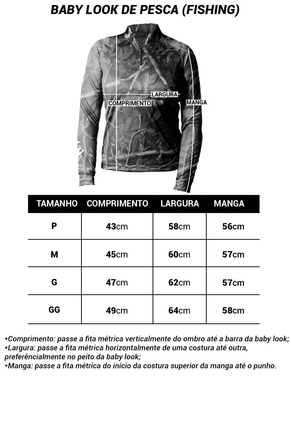 CAMISA DE PESCA FISH TAMBAQUI 02 FEMININA + BANDANA GRÁTIS  - REAL HUNTER OUTDOORS