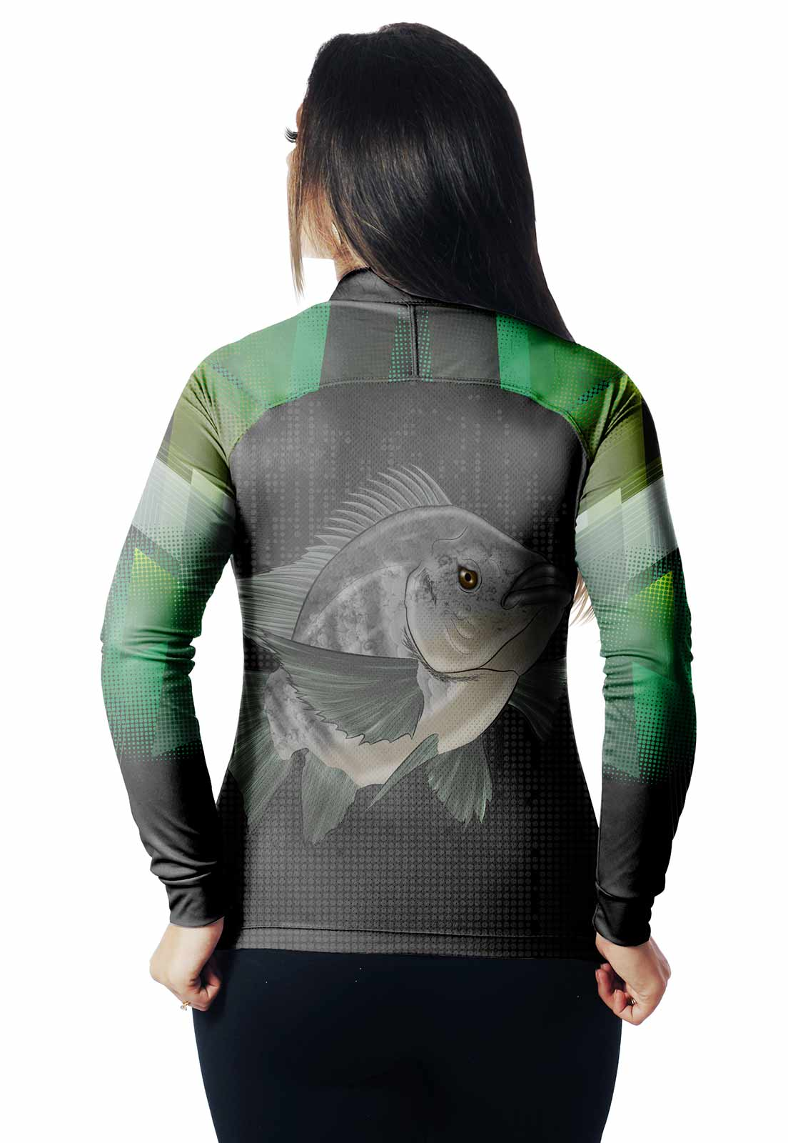 CAMISA DE PESCA FISH TILÁPIA 02 FEMININA + BANDANA GRÁTIS  - REAL HUNTER OUTDOORS