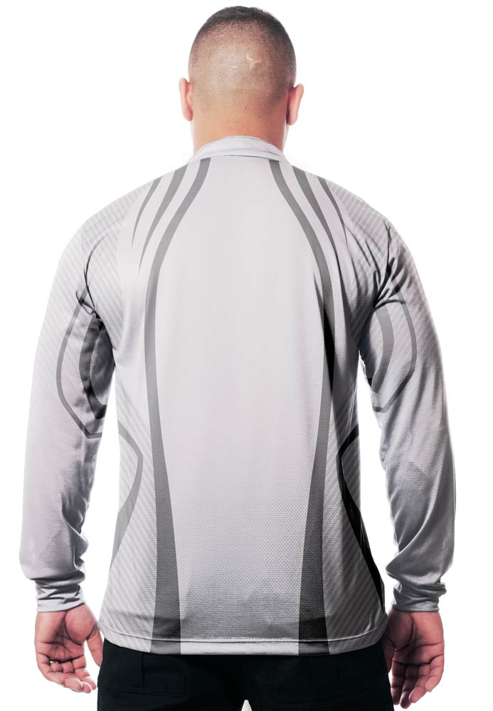 CAMISA DE PESCA MASCULINA WHITE GREY TECHNOLOGY