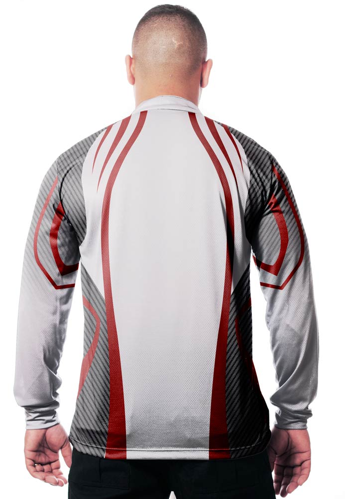 CAMISA DE PESCA MASCULINA WHITE RED TECHNOLOGY  - REAL HUNTER OUTDOORS