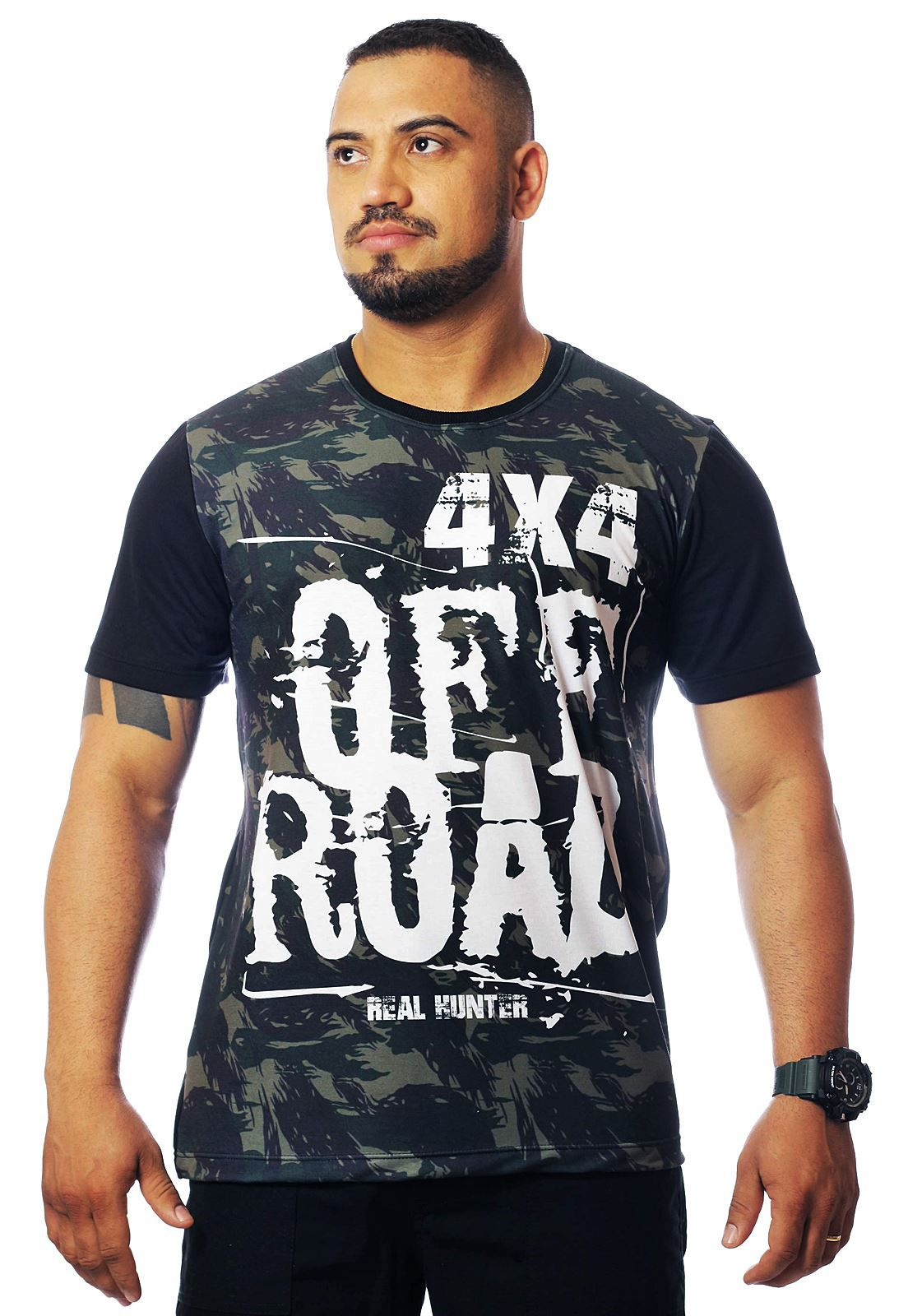 CAMISA OFF ROAD 4X4 MANGA CURTA MASCULINA  - REAL HUNTER OUTDOORS