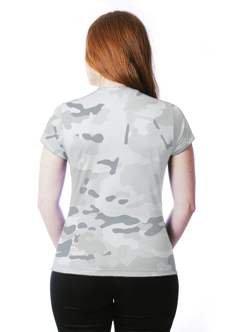 Camiseta Baby Look Camuflada Multicam Alpine Feminina Manga Curta  - REAL HUNTER OUTDOORS