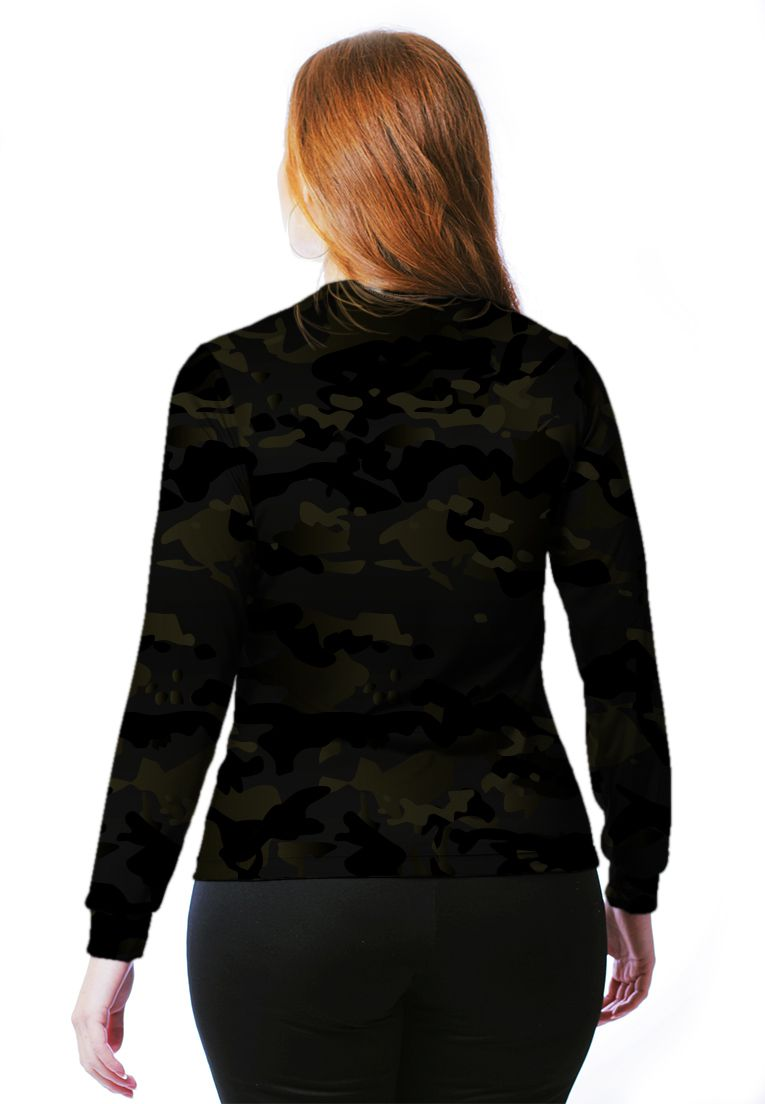 Camiseta Baby Look Camuflada Multicam Black Feminina Manga Longa  - REAL HUNTER