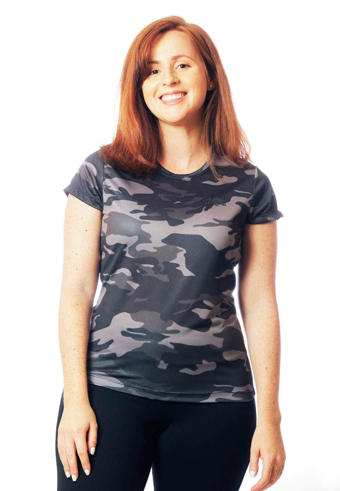 CAMISETA BABY LOOK CAMUFLADA URBANO BLACK MANGA CURTA FEMININA​  - REAL HUNTER OUTDOORS