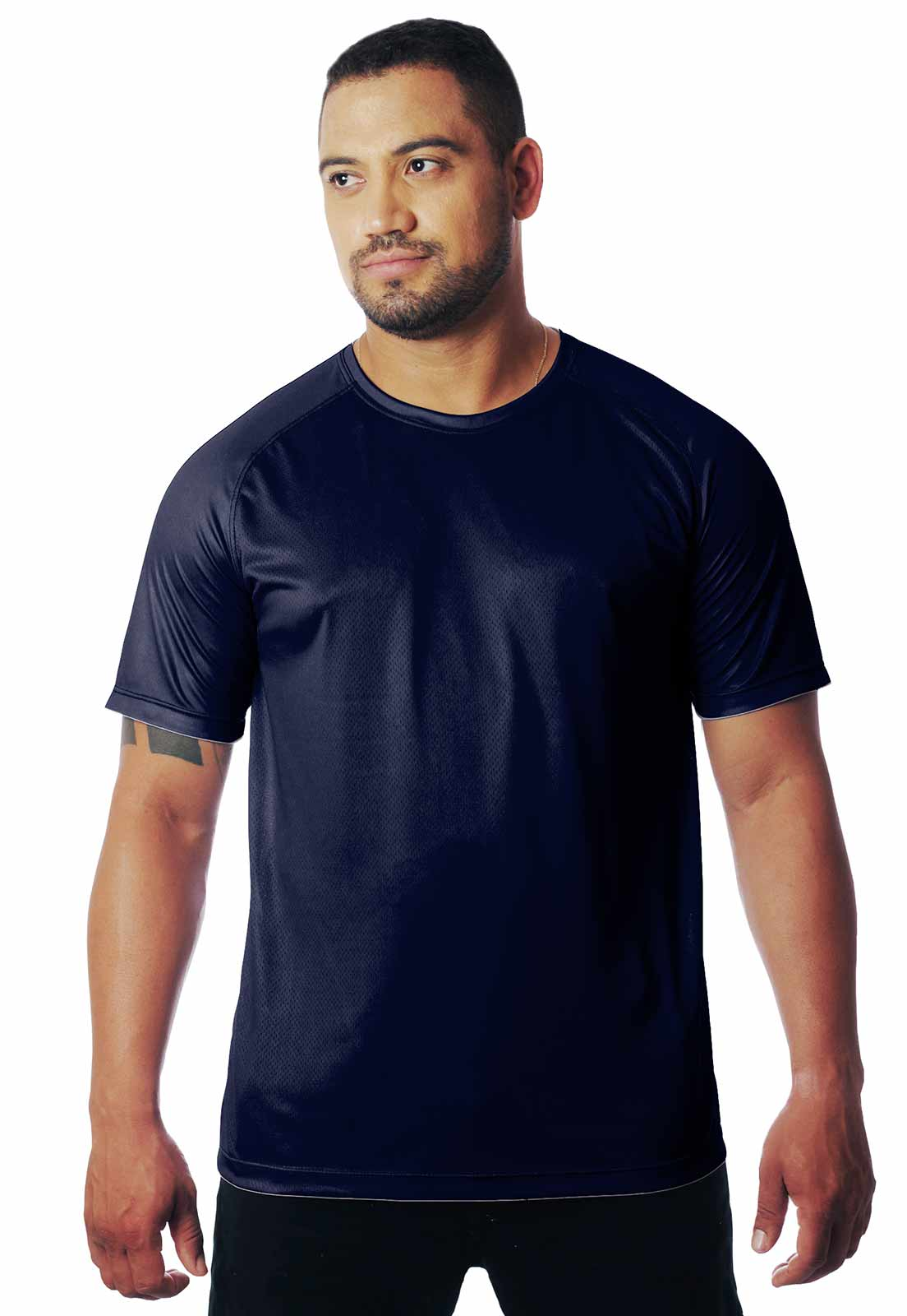 CAMISETA BÁSICA AZUL MARINHO DIA A DIA MANGA CURTA MASCULINA  - REAL HUNTER OUTDOORS