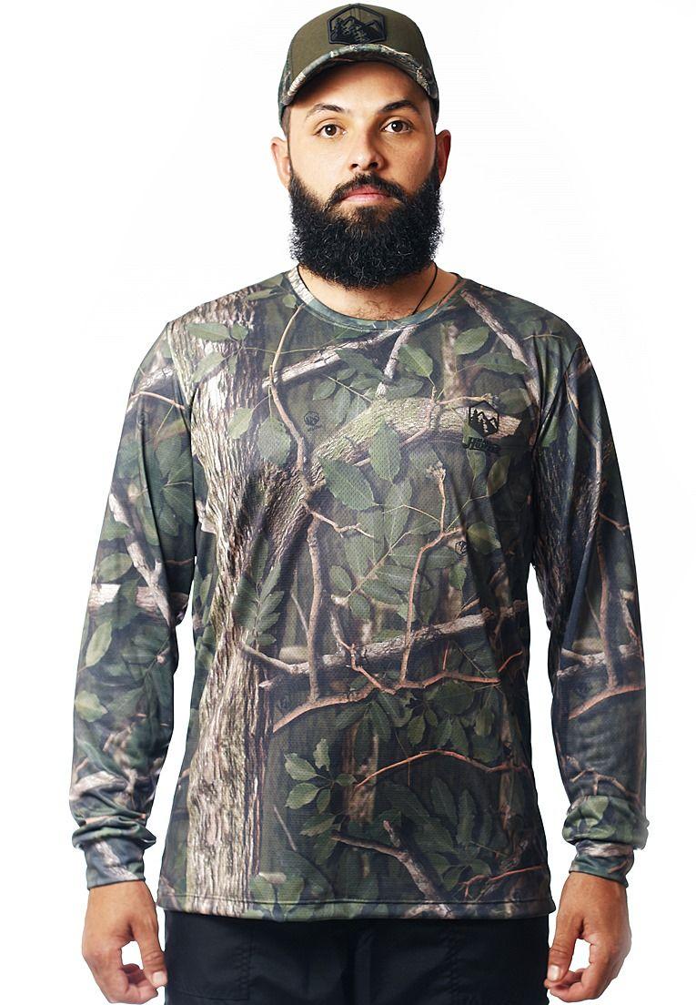 Camiseta Camuflada Amazônia Manga Longa Masculina - REAL HUNTER ... 358d3769e5af5