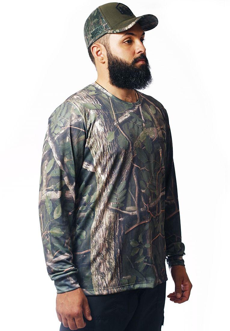 Camiseta Camuflada Amazônia Manga Longa Masculina  - REAL HUNTER
