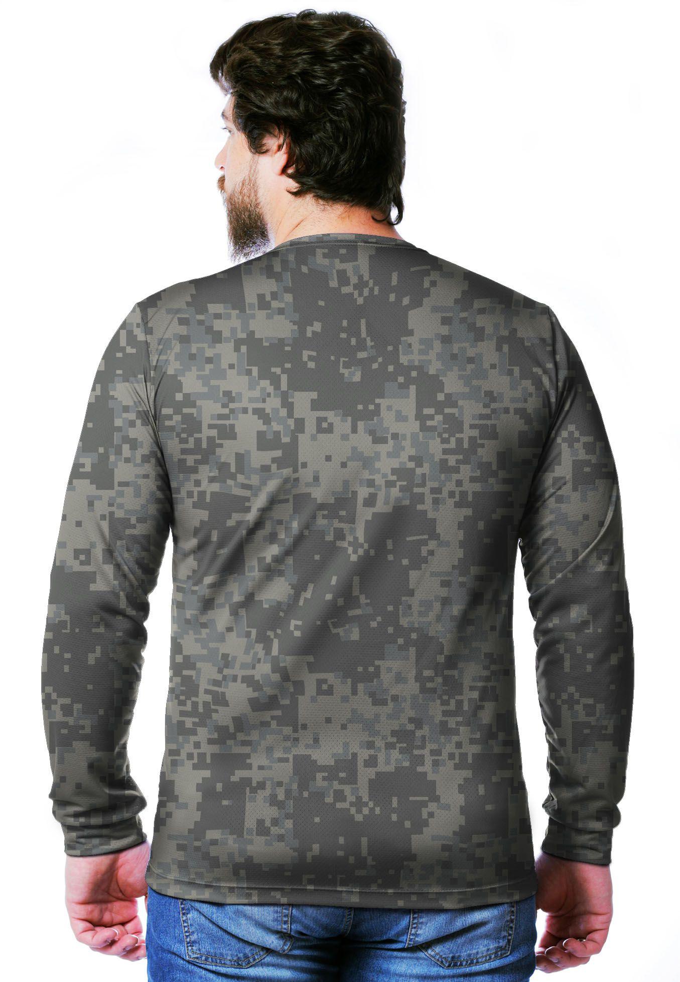 Camiseta  Camuflada Digital ACU Longa Masculina  - REAL HUNTER