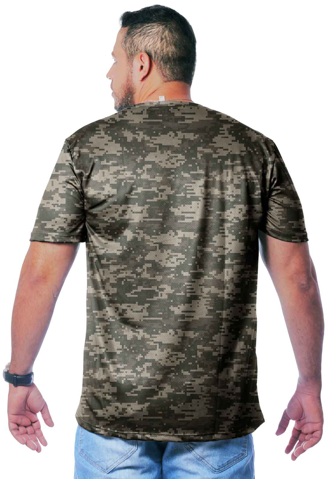 CAMISETA CAMUFLADA DIGITAL ACU MANGA CURTA MASCULINA  - REAL HUNTER OUTDOORS