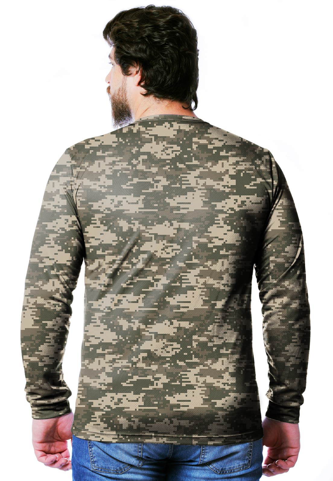 CAMISETA CAMUFLADA DIGITAL ACU MANGA LONGA MASCULINA  - REAL HUNTER OUTDOORS