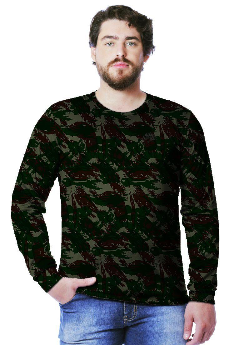 Camiseta  Camuflada Exército Brasileiro Longa Masculina  - REAL HUNTER