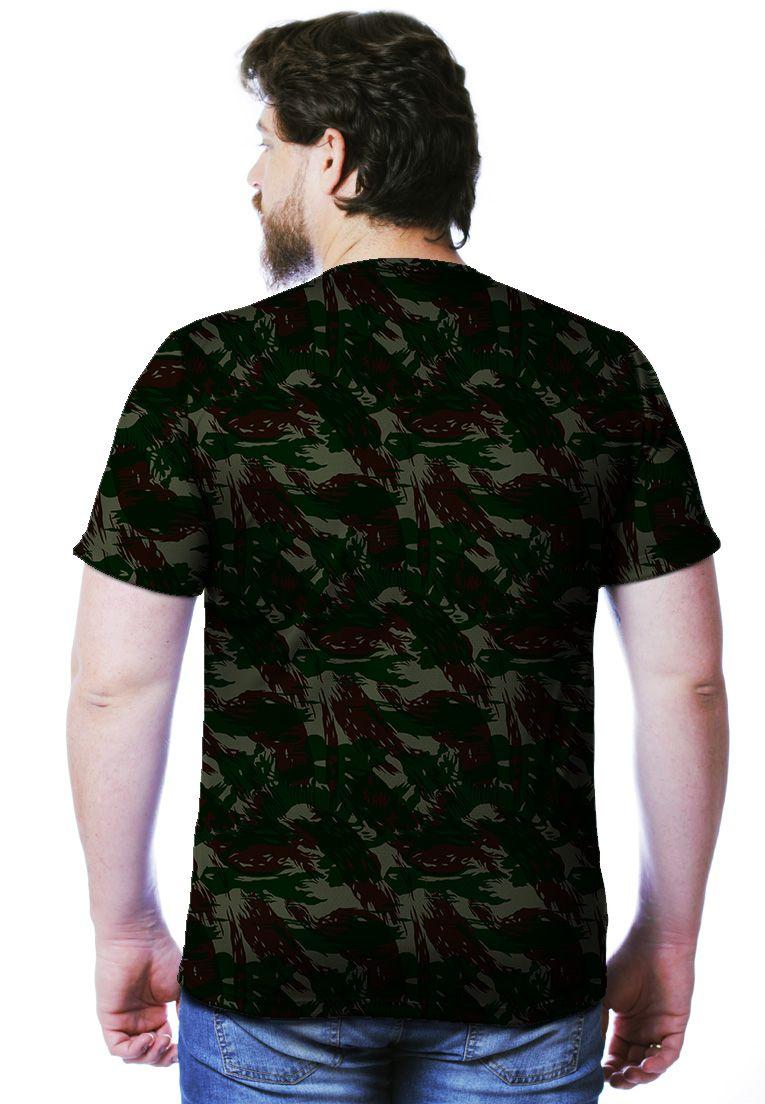 Camiseta Camuflada Exército Brasileiro Manga Curta Masculina  - REAL HUNTER