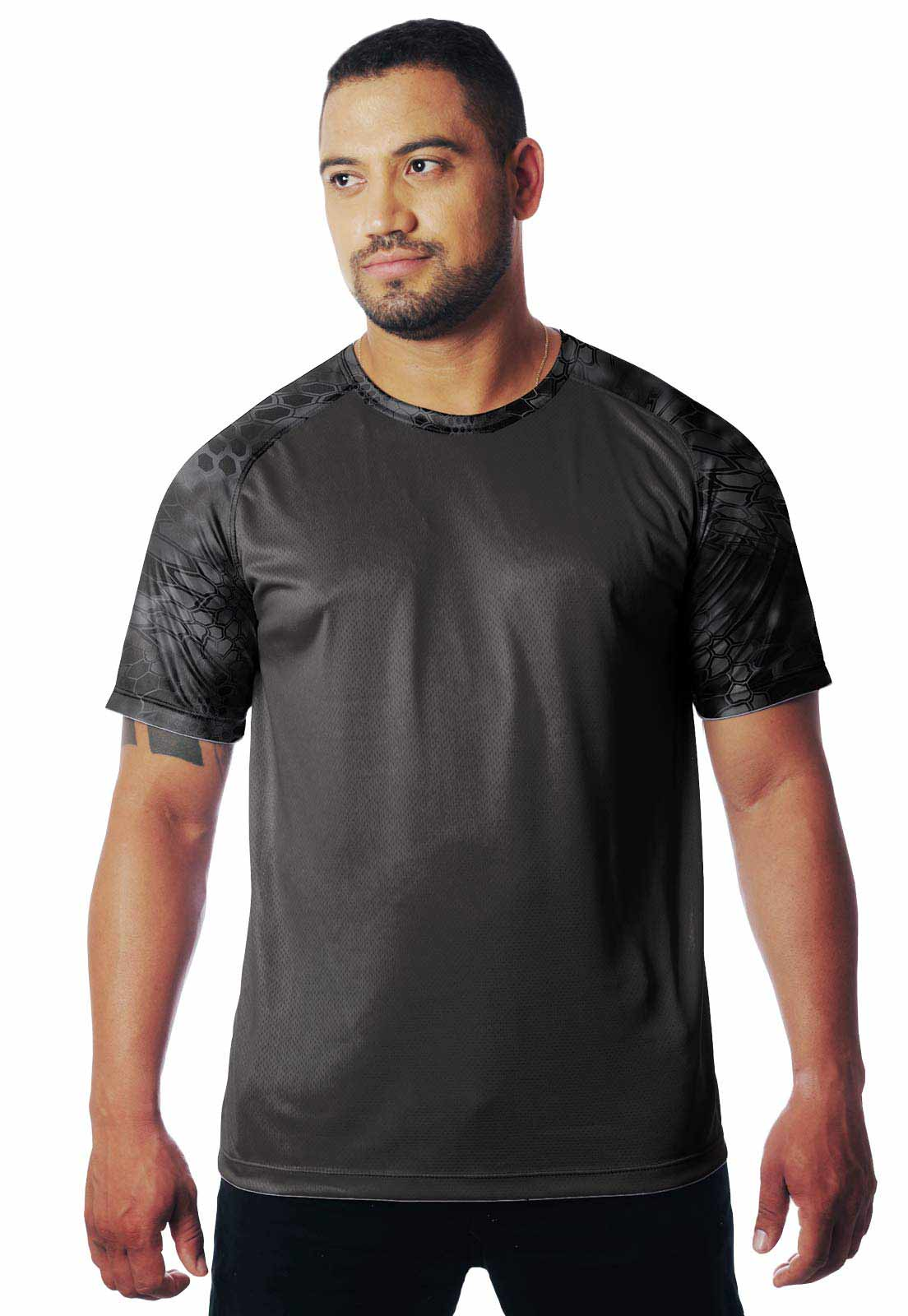 CAMISETA CAMUFLADA KRYPTEC 01 MANGA CURTA MASCULINA  - REAL HUNTER OUTDOORS