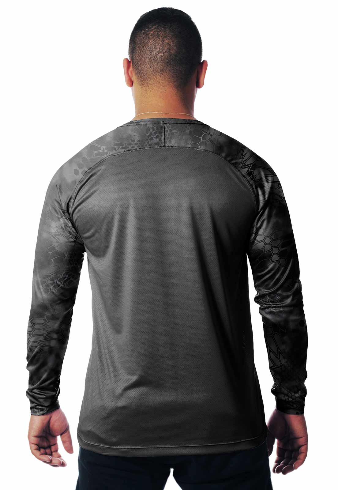 CAMISETA CAMUFLADA KRYPTEC LAZER 19 MANGA LONGA MASCULINA  - REAL HUNTER OUTDOORS