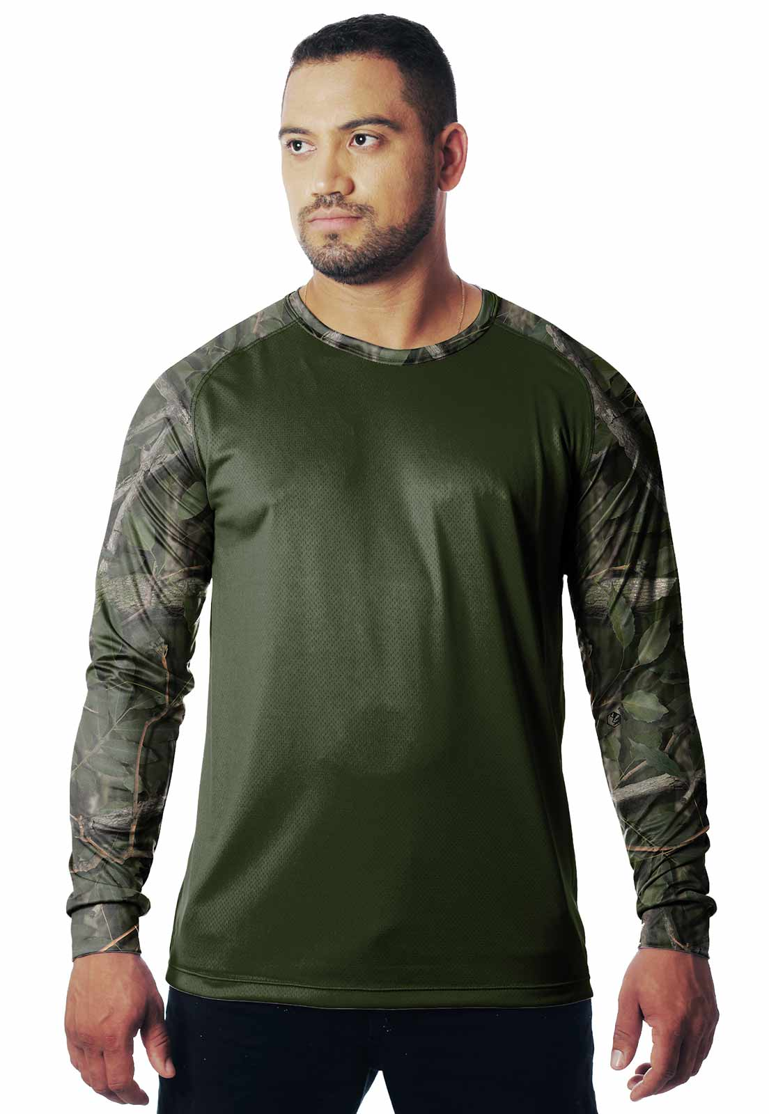 CAMISETA CAMUFLADA AMAZÔNIA LAZER 09 MANGA LONGA MASCULINA - REAL HUNTER OUTDOORS