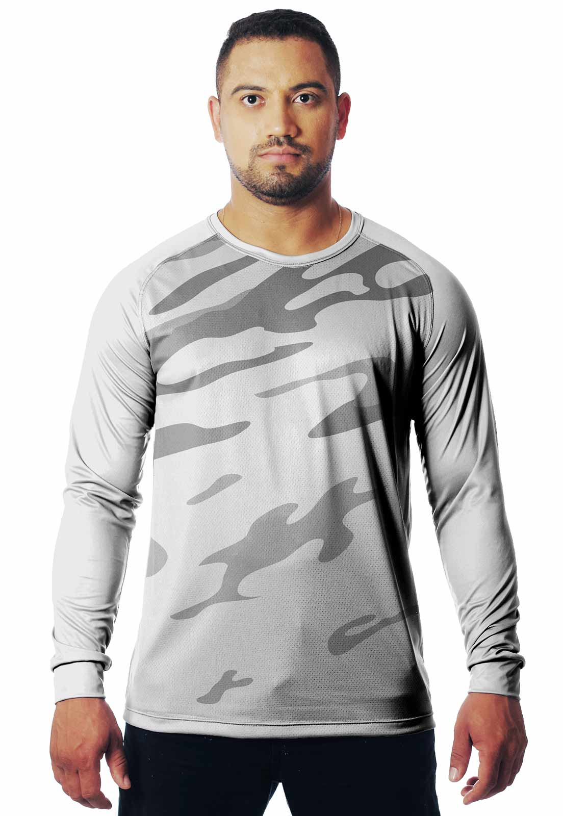 CAMISETA CAMUFLADA LAZER 10 MANGA LONGA MASCULINA  - REAL HUNTER OUTDOORS