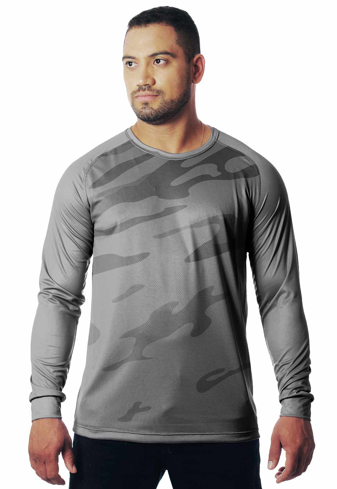 CAMISETA CAMUFLADA LAZER 11 MANGA LONGA MASCULINA  - REAL HUNTER OUTDOORS