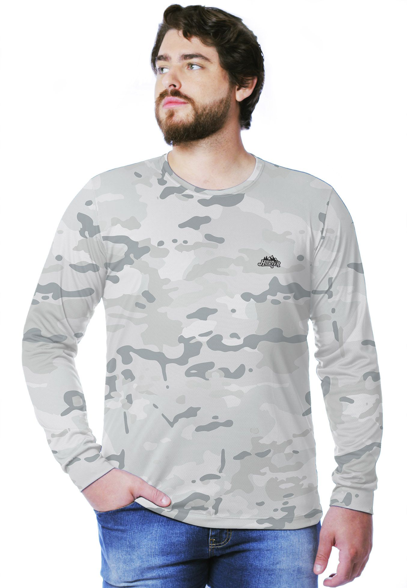 CAMISETA CAMUFLADA MULTICAM ALPINE MANGA LONGA MASCULINA - REAL HUNTER OUTDOORS