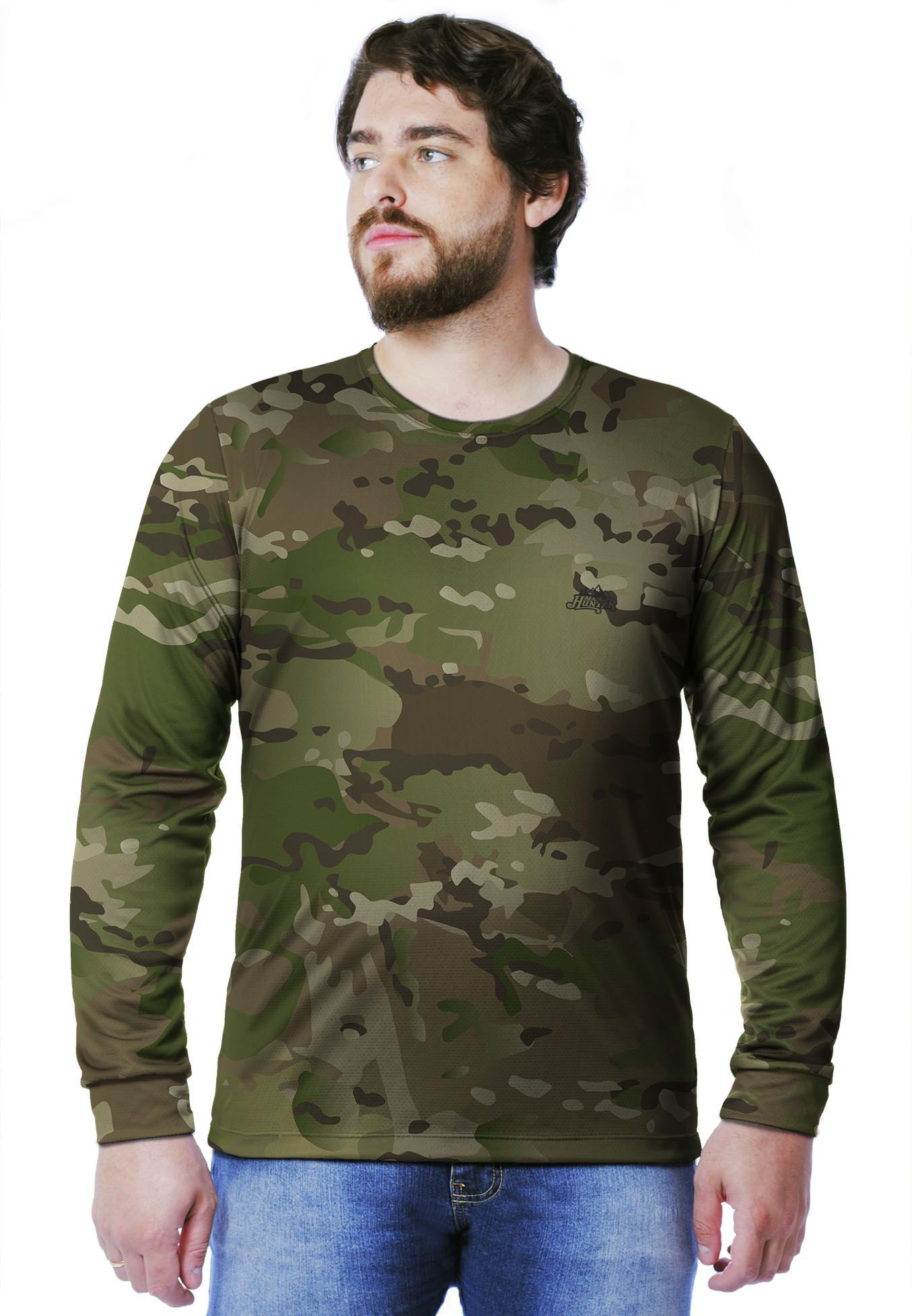 CAMISETA CAMUFLADA MULTICAM MANGA LONGA MASCULINA  - REAL HUNTER OUTDOORS