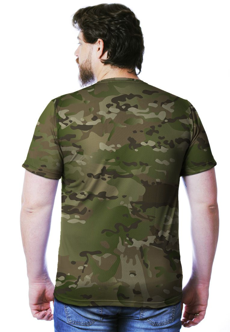 Camiseta Camuflada Multicam Manga Curta Masculina  - REAL HUNTER