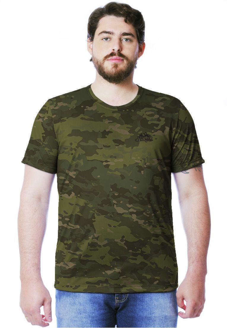 Camiseta Camuflada Multicam Tropical Manga Curta Masculina  - REAL HUNTER