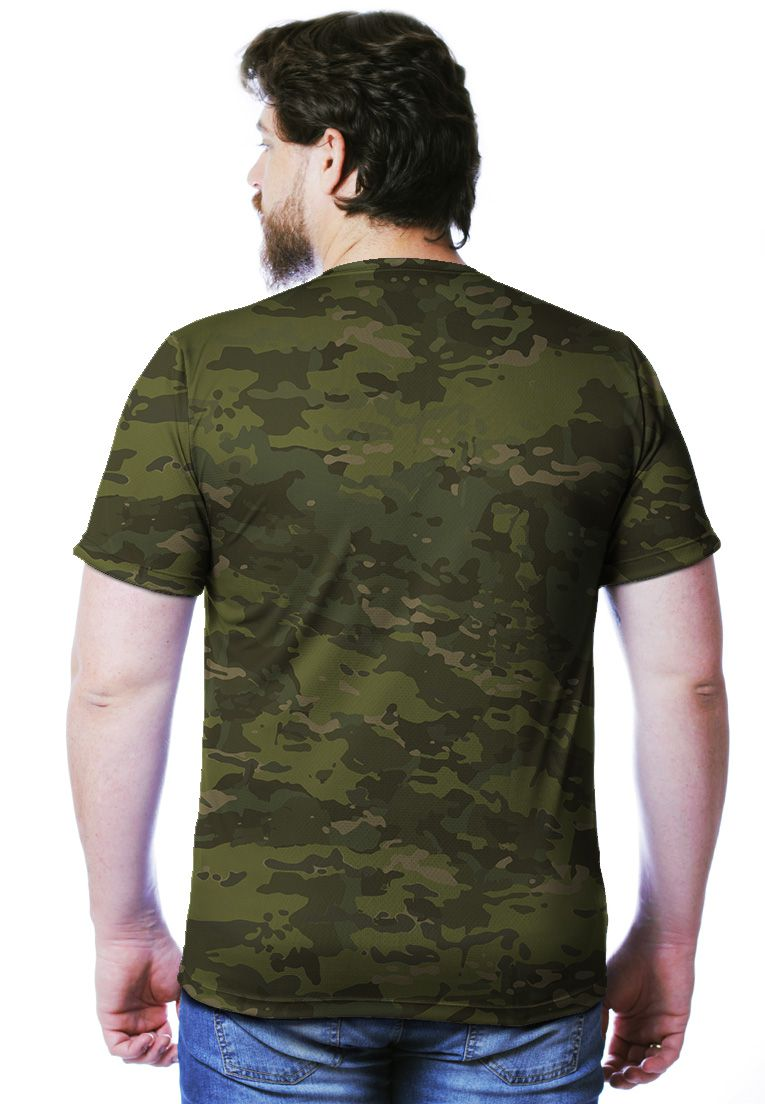 CAMISETA CAMUFLADA MULTICAM TROPICAL MANGA CURTA MASCULINA  - REAL HUNTER OUTDOORS