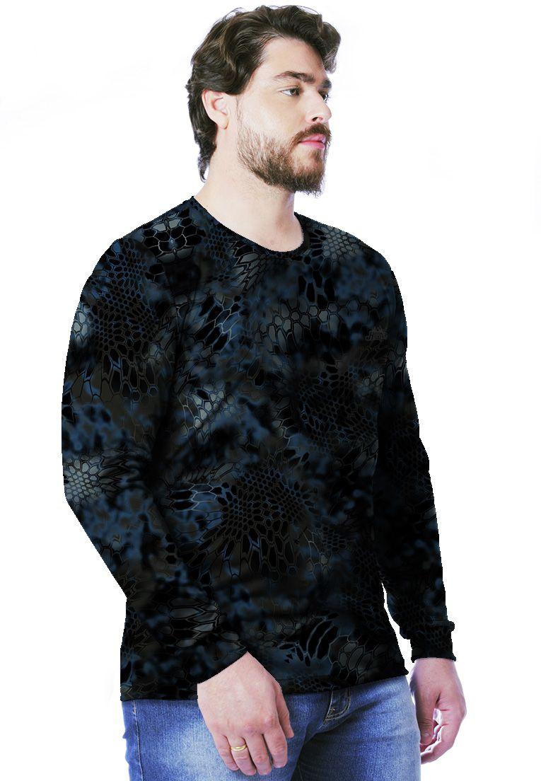 Camiseta  Camuflada Neptune Tropical Longa Masculina  - REAL HUNTER
