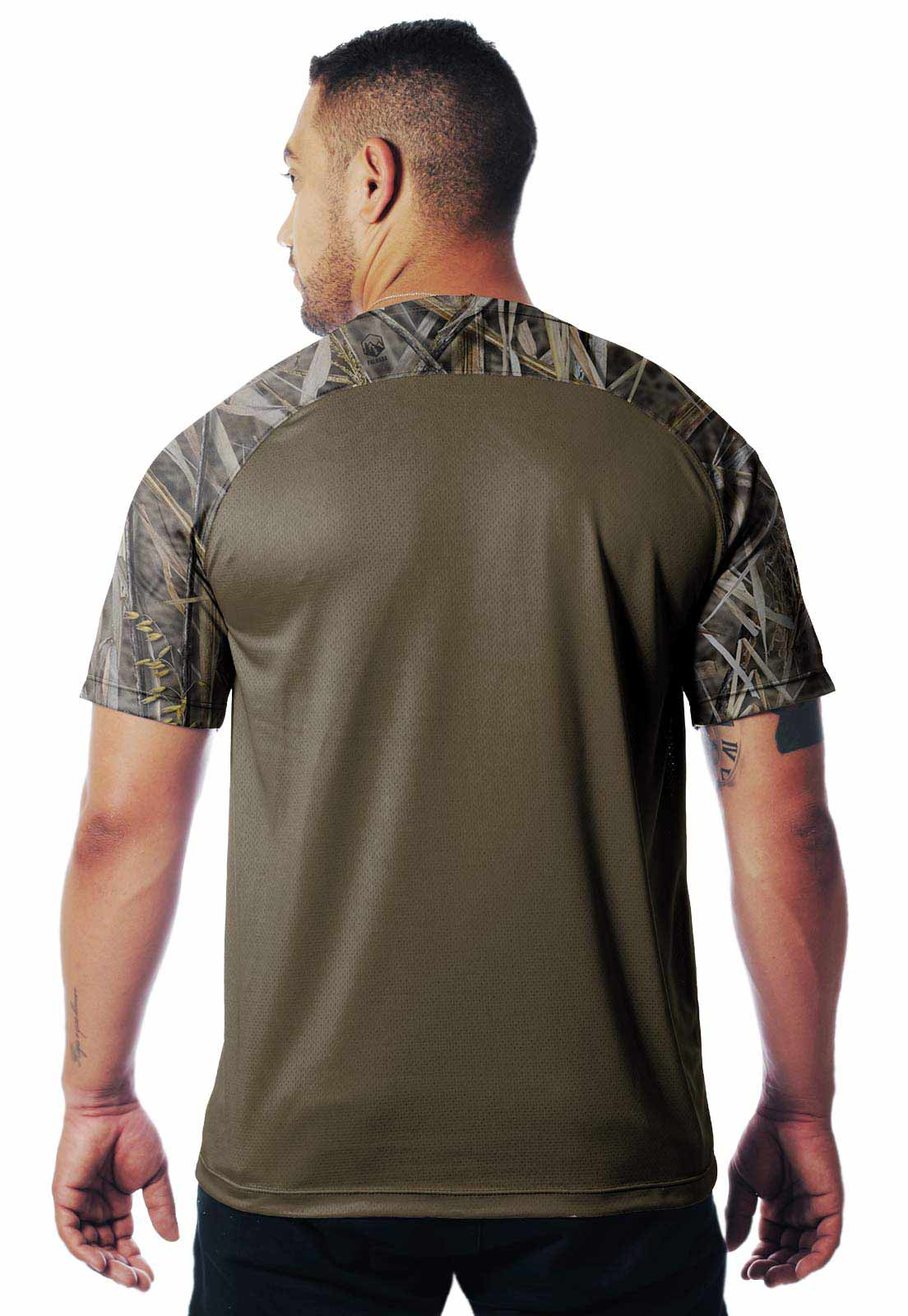CAMISETA CAMUFLADA PALHADA DIA 01 MANGA CURTA MASCULINA  - REAL HUNTER OUTDOORS