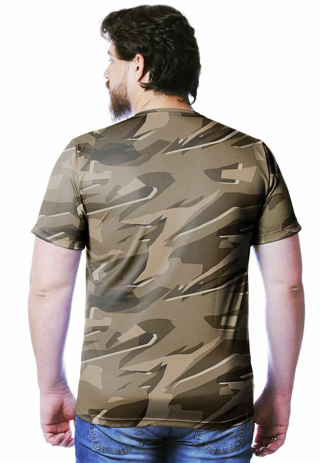 CAMISETA CAMUFLADA PARABELLUM DESERTO MASCULINA  - REAL HUNTER OUTDOORS
