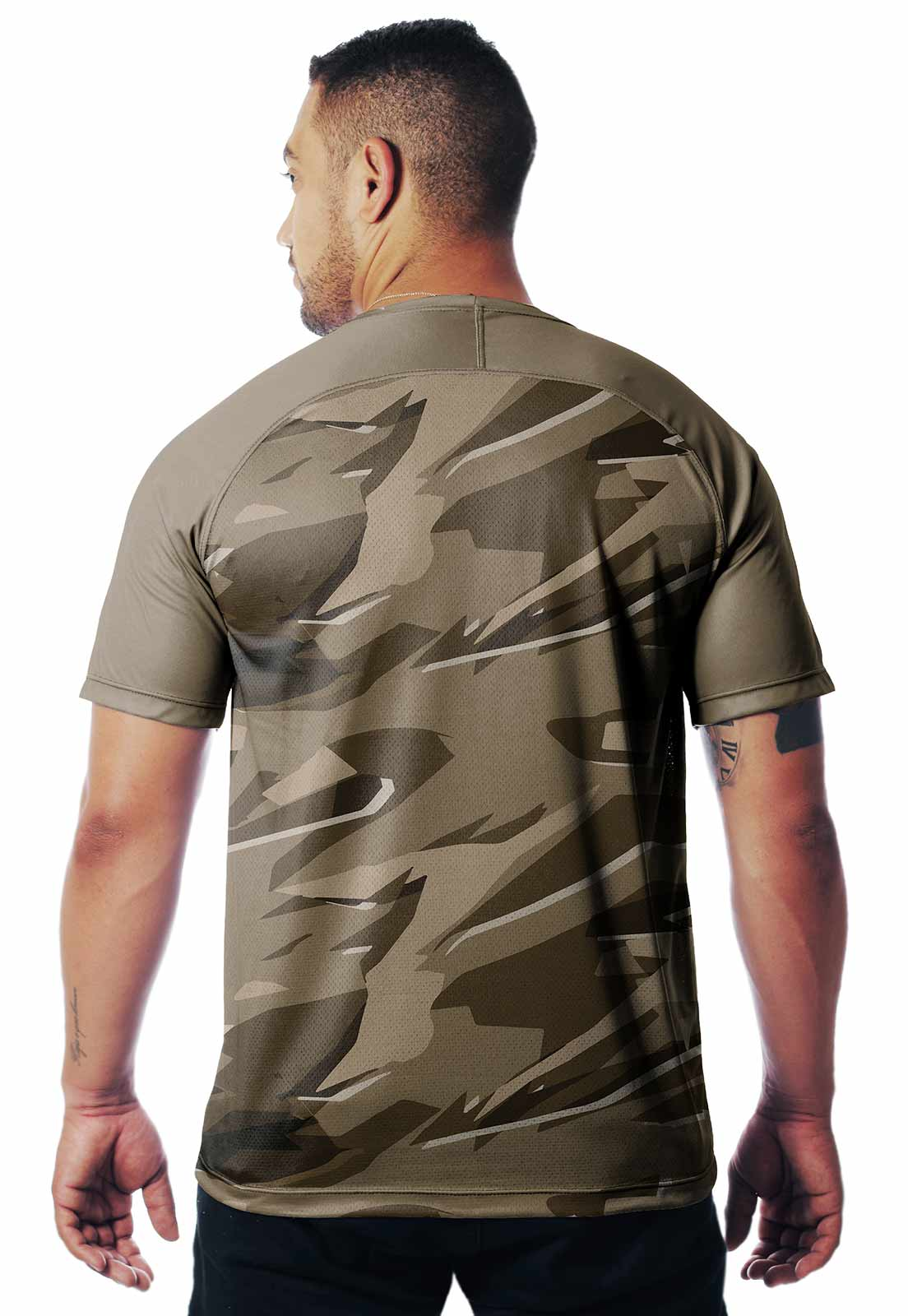 CAMISETA CAMUFLADA PARABELLUM DIA 01 MANGA CURTA MASCULINA - REAL HUNTER OUTDOORS