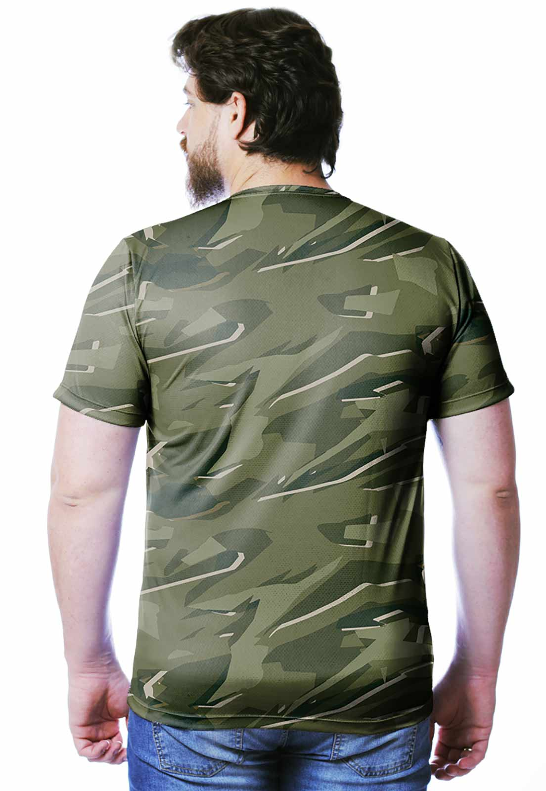 CAMISETA CAMUFLADA PARABELLUM TROPICAL MASCULINA  - REAL HUNTER OUTDOORS