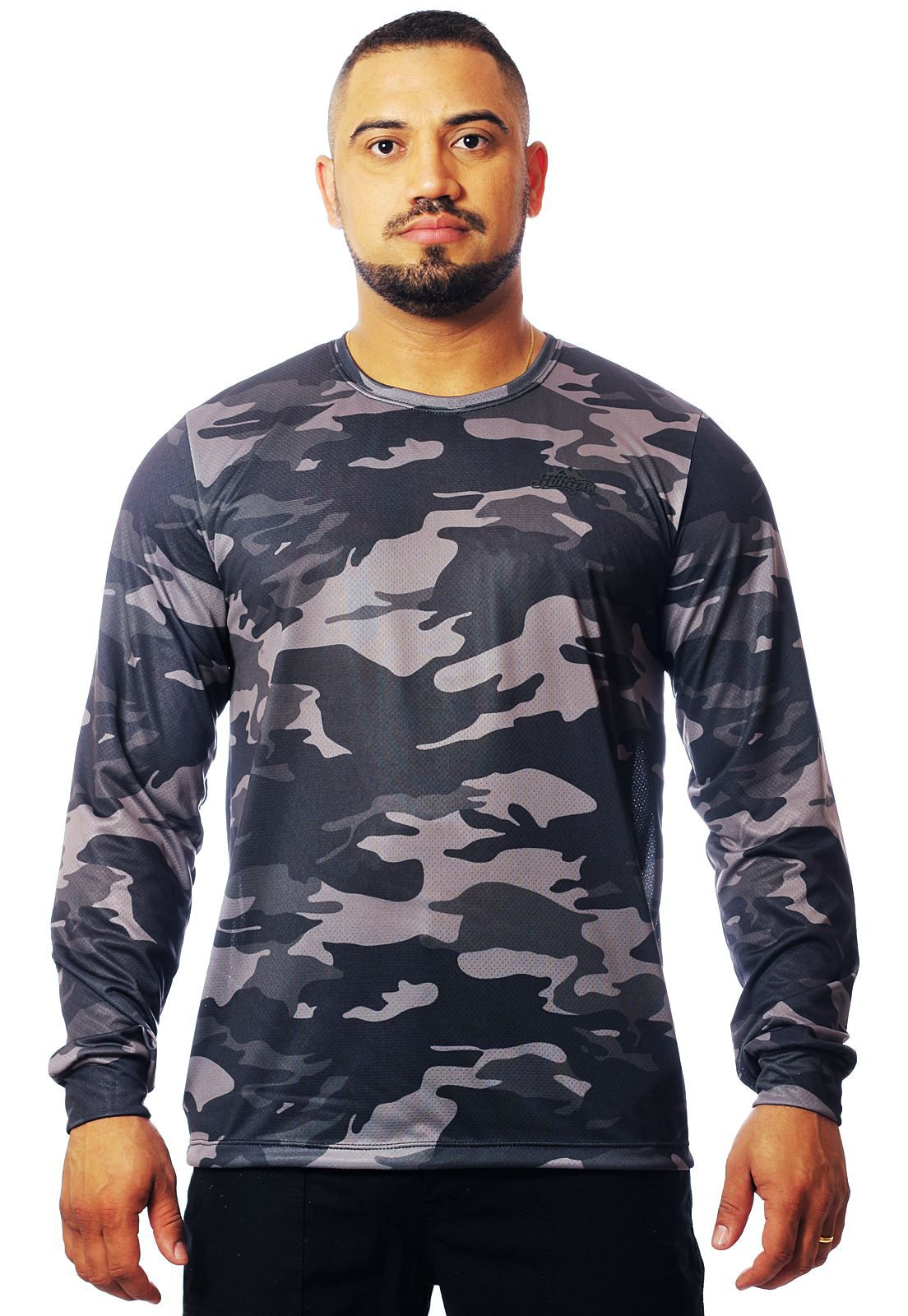 CAMISETA CAMUFLADA URBANO BLACK MASCULINA MANGA LONGA  - REAL HUNTER OUTDOORS