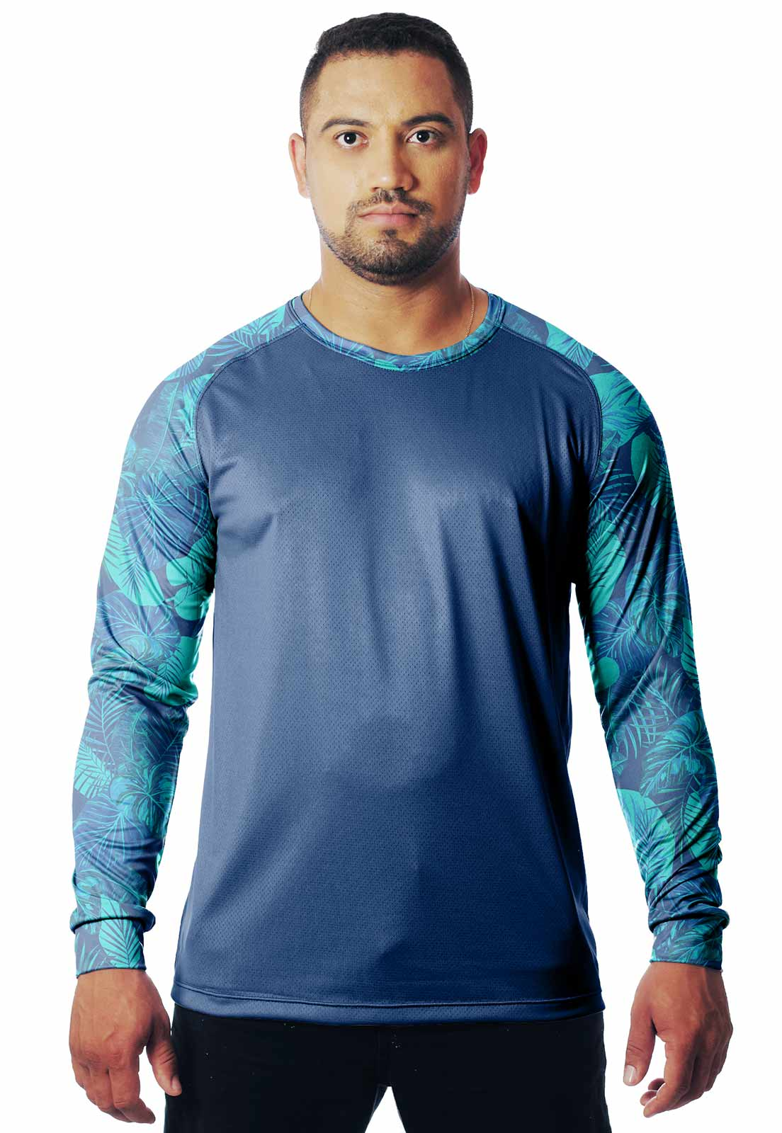 CAMISETA CAMUFLADAFOLHAGEM LAZER 08 MANGA LONGA MASCULINA - REAL HUNTER OUTDOORS