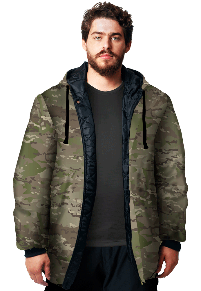 JAQUETA CAMUFLADA MULTICAM FLÚOR CARBON MASCULINA  - REAL HUNTER OUTDOORS
