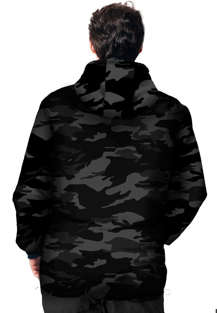 JAQUETA CAMUFLADA URBANO BLACK FLÚOR CARBON MASCULINA  - REAL HUNTER OUTDOORS