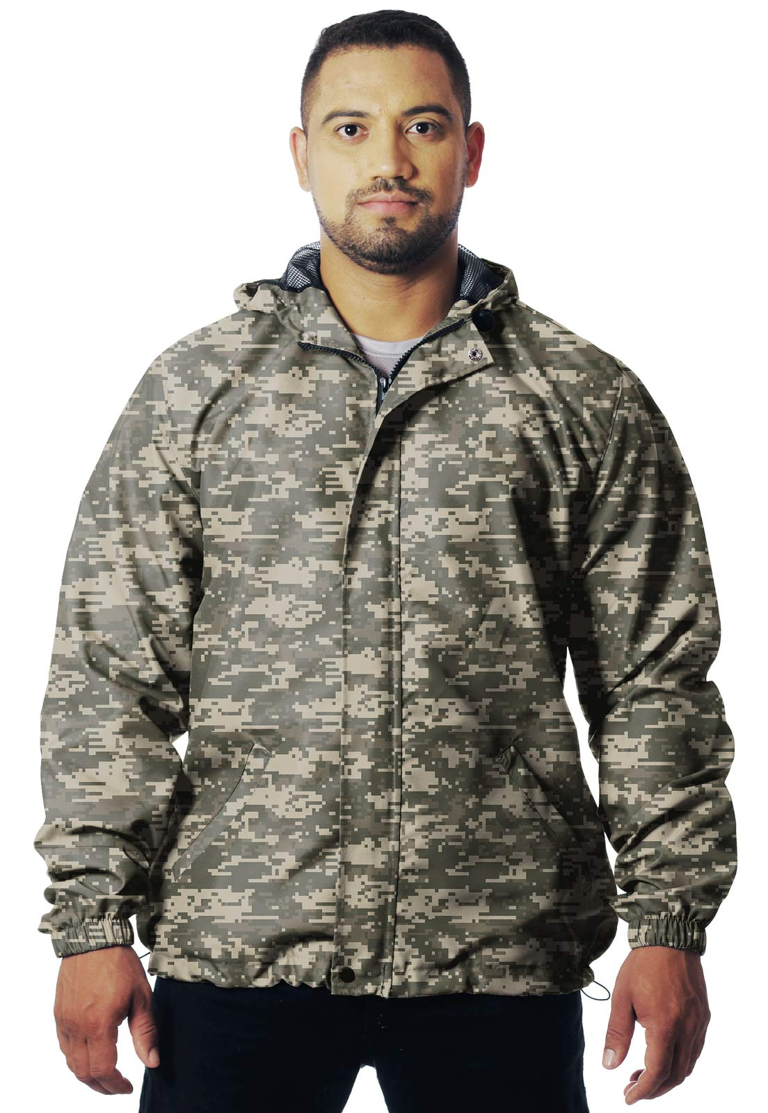 JAQUETA CORTA VENTO CAMUFLADA ACU MASCULINA - REAL HUNTER OUTDOORS