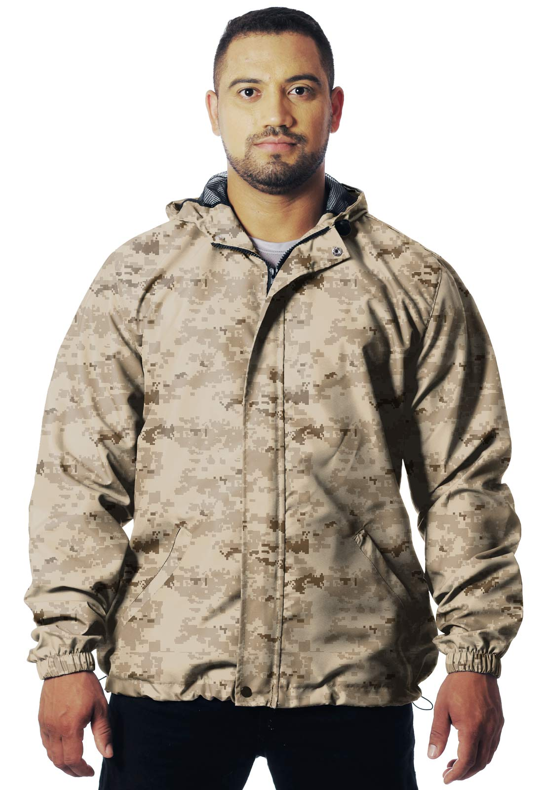 JAQUETA CORTA VENTO CAMUFLADA DESERTO MASCULINA  - REAL HUNTER OUTDOORS