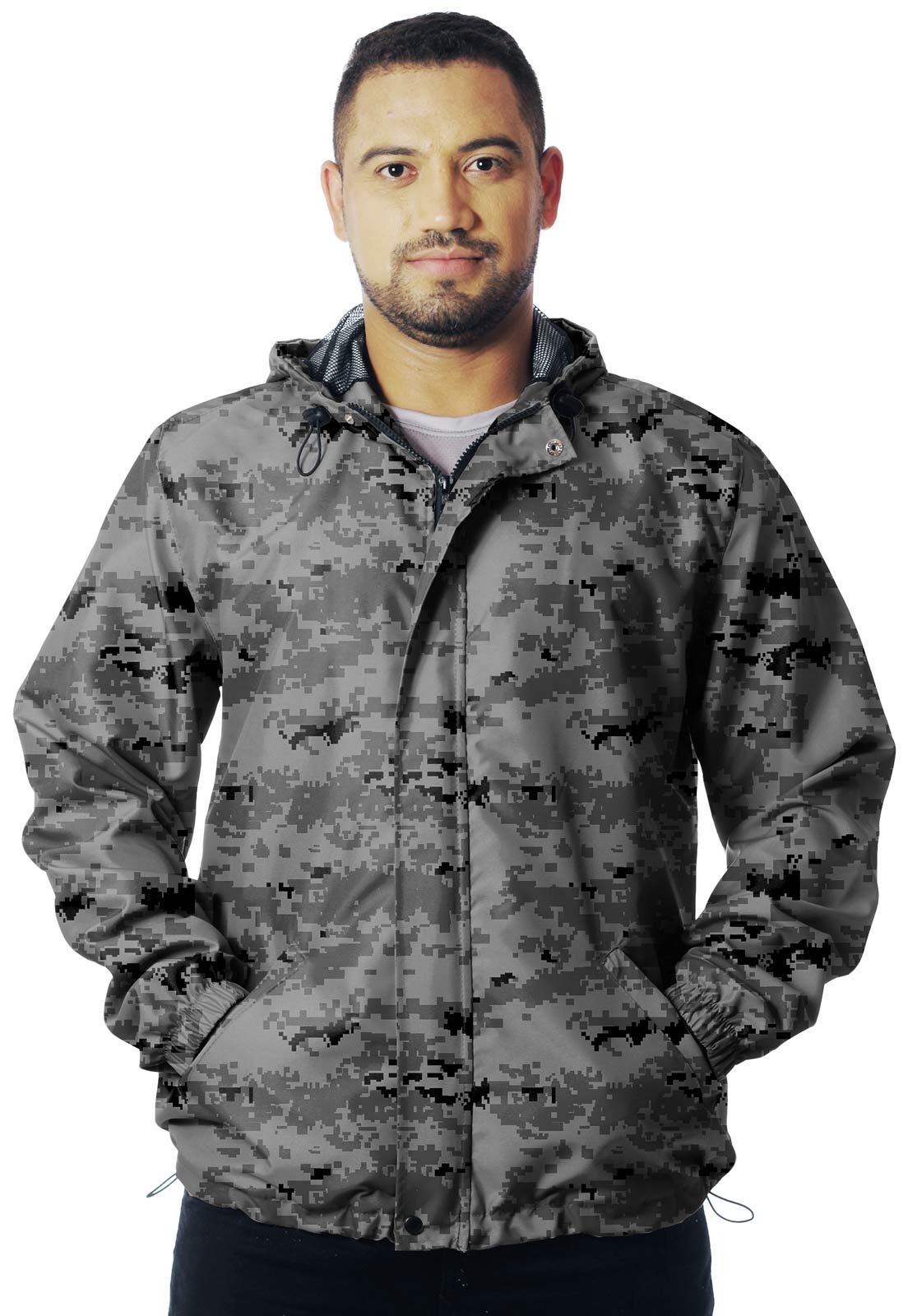 JAQUETA CORTA VENTO CAMUFLADA DIGITAL URBANO MASCULINA  - REAL HUNTER OUTDOORS