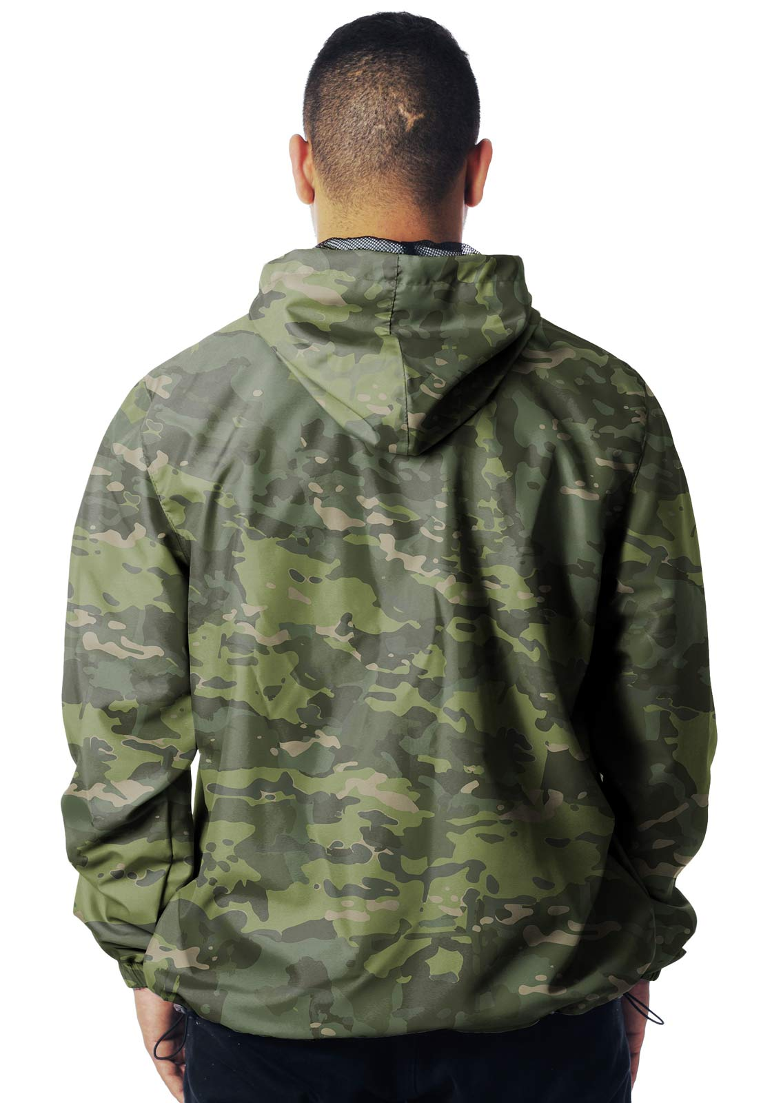 JAQUETA CORTA VENTO CAMUFLADA MULTICAM TROPICAL MASCULINA  - REAL HUNTER OUTDOORS