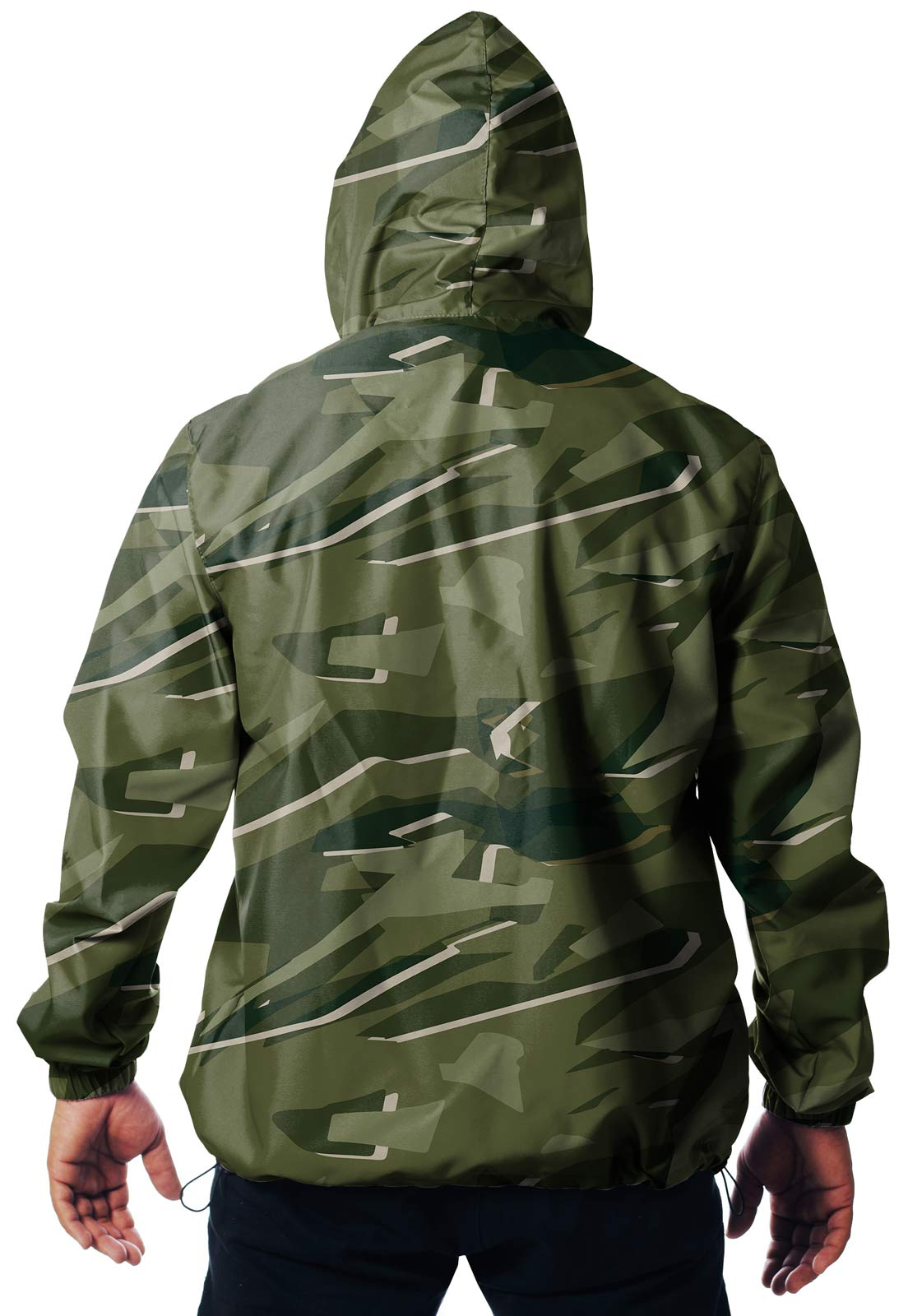 JAQUETA CORTA VENTO CAMUFLADA PARABELLUM TROPICAL MASCULINA  - REAL HUNTER OUTDOORS